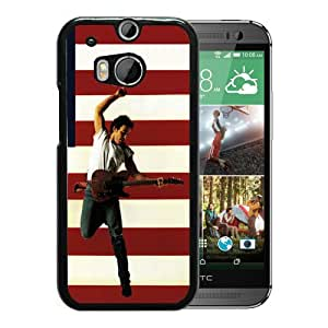 Fashionable Custom Designed Cover Case For HTC ONE M8 With Bruce Springsteen Black Phone Case