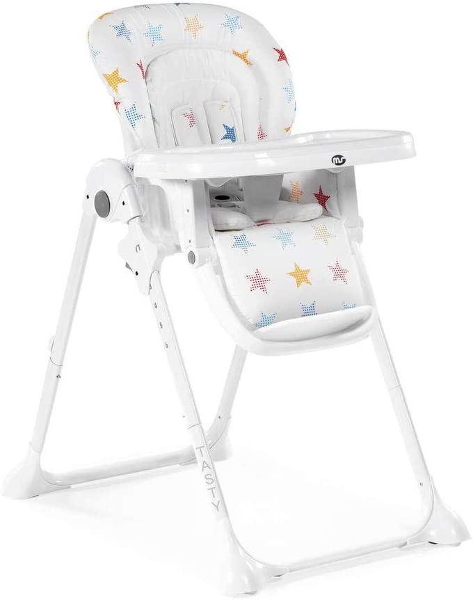 Innovaciones Ms Tasty 2054 - Trona, color blanco con estrellas