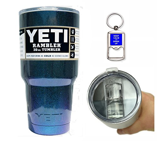 Yeti Coolers 30 Ounce (30oz) (30 oz) Custom Rambler Tumbler Cup Mug with Exclusive Spill Resistant Lid (Chameleon Teal)
