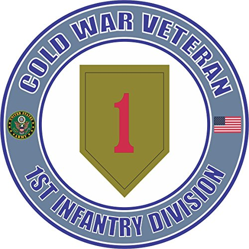 Magnet U.S. Army Cold War 1st Infantry Division Veteran Vinyl Magnet Car Fridge Locker Metal Decal 3.8