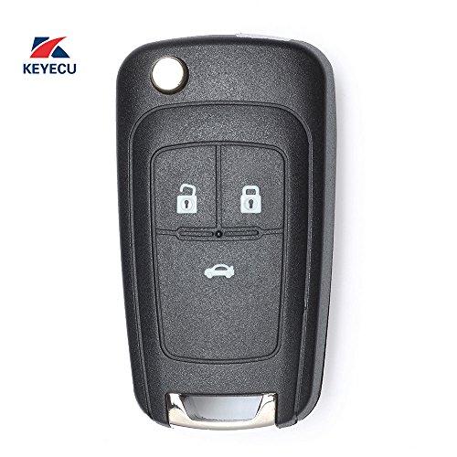 Keyecu Uncut Remote Key Fob 3BTN 433Mhz for Opel Vauxhall Insignia Astra 2009-2014