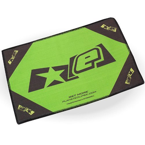 Exalt Planet Eclipse Microfiber Goggle Cloth Player Size - Black/Lime by Exalt