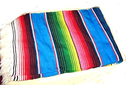 Amazon.com  Large Mexican Serape Saltillo Zerape Blanket Burgandy ... 7a5375cb5
