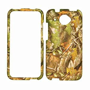 Cell Armor Snap-On Cover for HTC Desire 601 - Retail Packaging - Hunter Series with Green Leaves