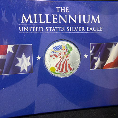 (2000 American Silver Eagle Colorized by the Perth Mint with COA $1 Uncirculated US Mint)