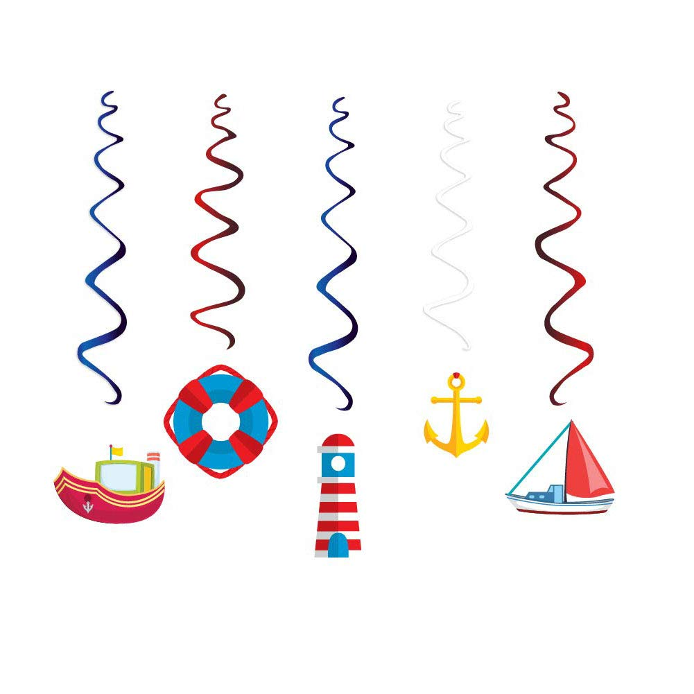 AimtoHome 30PCS Construction Zone Party Supplies Car Birthday Hanging Swirl Decorations