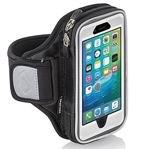 Sporteer Entropy E6 Modular Armband for iPhone X, iPhone 8, iPhone 7/ 6S, Google Pixel 2, Galaxy S9, S8, S8 Active, S7 Edge, S7, LG V30, G6, Moto G5S, X4, and Other Phones/Cases