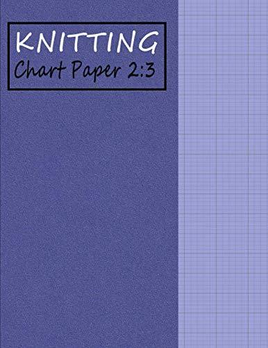 (Knitting Chart Paper 2:3: Blank Graph Notebook Ratio 2:3 - Purple (Knitting Paper – Foam Texture))