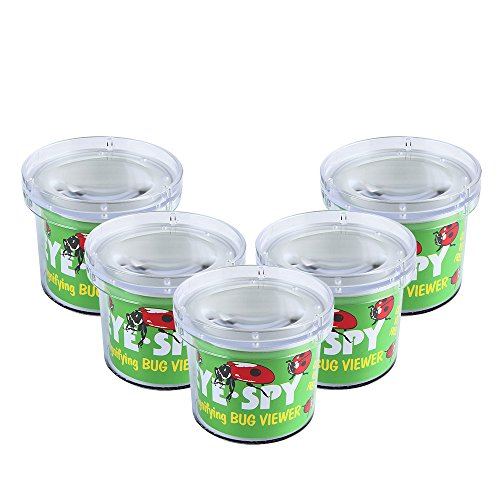 Bug Jar (SainSmart Jr. Bug Viewer Catcher Cage, Magnifying Insect Box Science Toys (5 PCS))