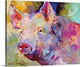 greatBIGcanvas Gallery-Wrapped Canvas entitled Piggy by Richard Wallich 30''x24''