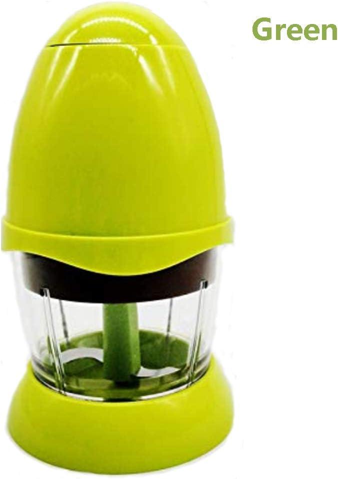 Cpippo Robot de Cocina,Mini Cortador de Verduras Portátil,Procesador de Alimentos Bebe,Hoja de Acero Inoxidable,Batido,Verduras,picadora,150W,200 ml,18.5cm×10.5cm,Rosa/Verde,Green: Amazon.es: Deportes y aire libre