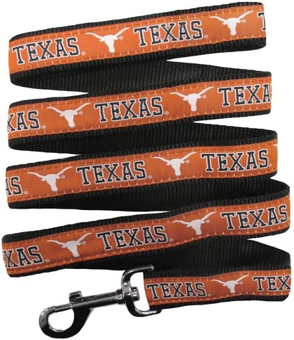 Pets First Texas Longhorns Nylon Collar and Matching Leash for Pets NCAA Official Size Small