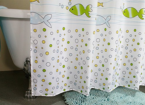 Amazon MangGou Fabric Shower CurtainFunny Kids Curtain LinerWaterproof Polyester Bathroom With 12 Hooksfor Boys Girls Cartoon