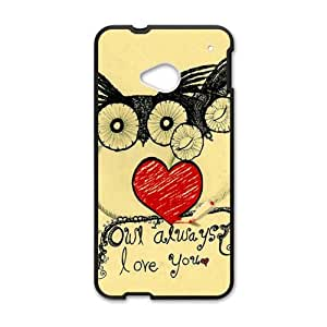 Happy Lovely owls unique durable fashion Cell Phone Case for HTC One M7