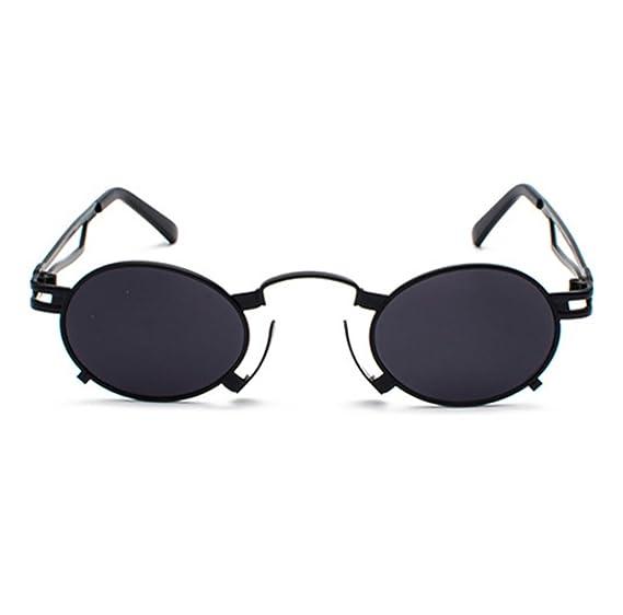 Gafas de sol de marco ovaladas reflexivas coloridas góticas del ...
