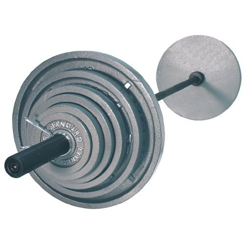 Troy USA Sports OSS-300B Gray Olympic Plates with Black Olympic Bar