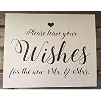 Please leave your Wishes for the new Mr. & Mrs. - Wedding Signage - 8x10 PRINT - Unframed - Reception - RUSTIC - Sign - Recycled - Eco Friendly
