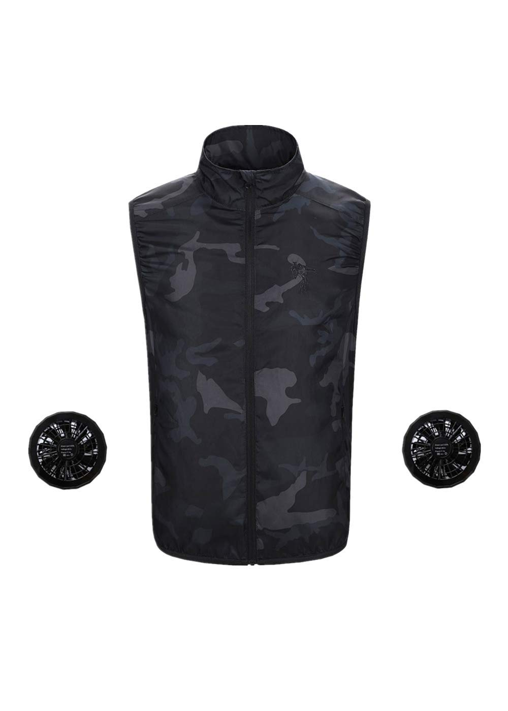Couple Sun Protection Tops Summer Air Conditioning Cooling Vest Heatstroke Outdoor Sunscreen Quick Dry Fishing Shirts Unisex (3XL, Camouflage)