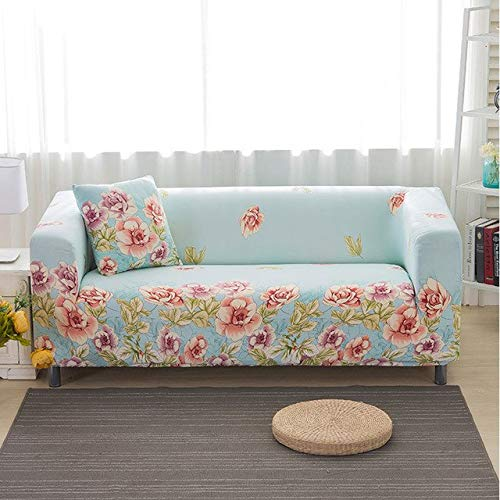 Farmerly 1pcs Flower Leaf Pattern Soft Stretch Sofa Cover Home Decor Spandex Furniture Covers Decoration Covering Hotel Slipcover 013   B, one seat