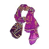 Cooper girl Happy Diwali Peacock Silk Scarf Shawl Wrap for Women Girls