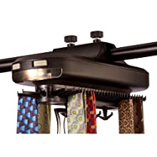 Honey-Can-Do HNG-02948 Battery Powered Revolving Tie and Belt Rack Organizer