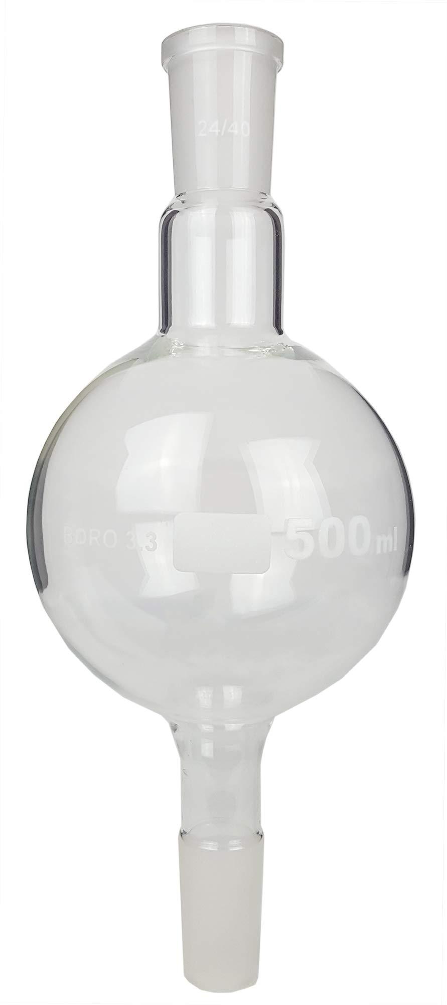 GSC International BMF500-24-40 Biomass Flask, 500ml, 24/40 Ground Glass Joint by GSC International
