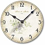Item C2000 Vintage Shabby Chic Style 10.5 Inch Lilacs Clock For Sale