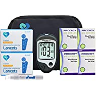 Prodigy Auto Code Diabetes Testing Kit, 200 Count | Prodigy TALKING Meter, 200 Prodigy Auto Code Test Strips, 200 Lancets, Lancing Device, Manuals, Log Book & Carry Case