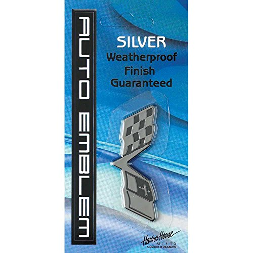 g Christian Bible Cross Small Weatherproof Auto Emblem - Silver ()