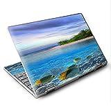 Skin Decal for Lenovo Yoga 710 11.6' Laptop Vinyl Wrap/Underwater Snorkel Tropical Fish Island