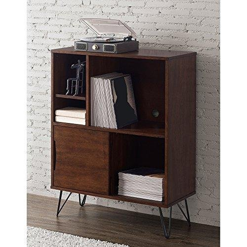 ModHaus Living Mid Century Modern Wooden Bookshelf Media Console Cabinet with Hairpin Legs - Includes Pen by ModHaus Living (Image #3)
