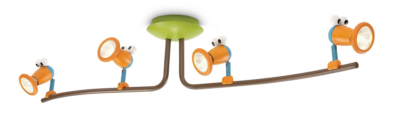 Philips myKidsroom LED 4er Spot Balken Birdey fürs Kinderzimmer