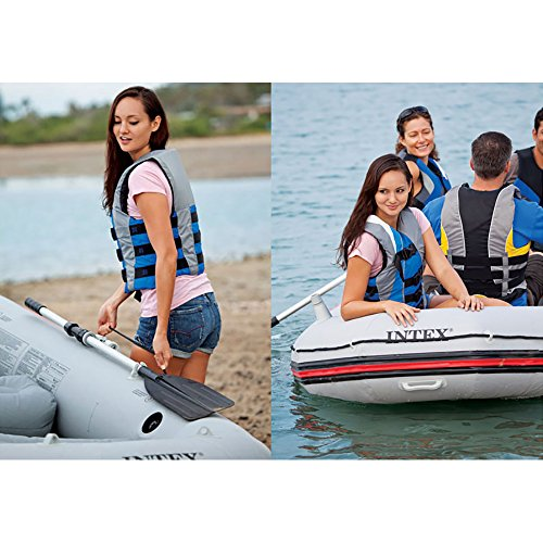 Intex Mariner 4, 4-Person Inflatable Boat Set with Aluminum Oars and High Output Air Pump (Latest Model) by Intex (Image #6)