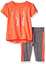 Under Armour Baby' Short Sleeve Tee and Legging Set, After Burn, 18 Months