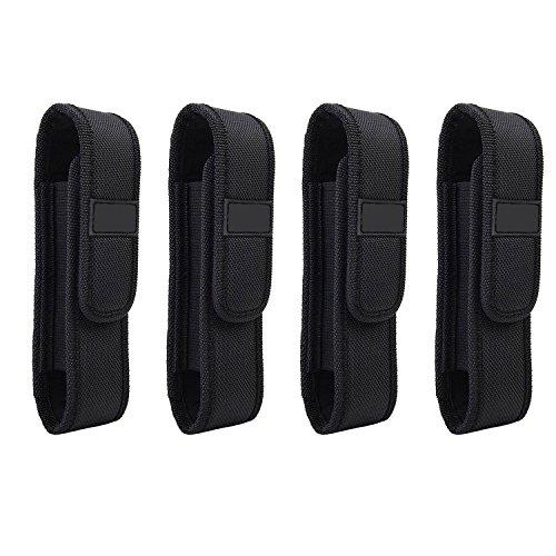 4-Pack Flashlight Holster Carry Case Holder for 5
