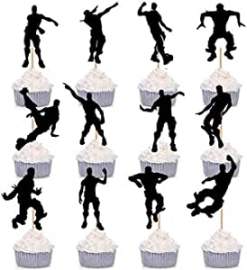 12 Pieces Fortnite Dance Floss Cupcake Toppers