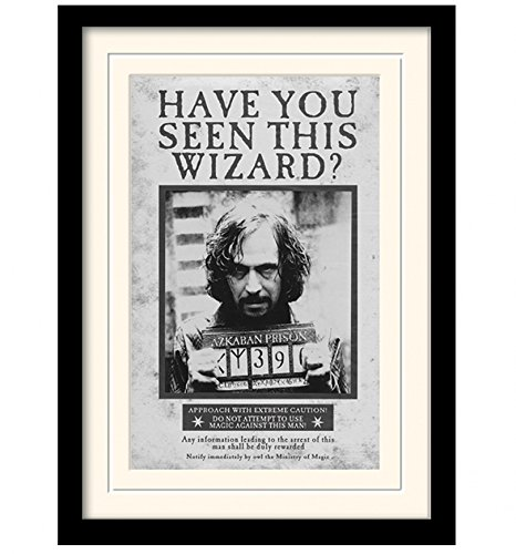 Harry Potter Sirius Black Wanted Poster Framed Print