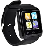 Twinbuys Bluetooth Smartwatch for Android Kids Smartphones Handsfree Sync Call Message Bluetooth Pedometer Fitness Tracker Sleep Monitor Smart Watches MODE 1 Black