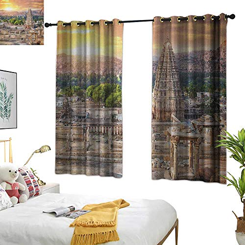 Warm Family Black Curtains Asian,Viruphaksha Temple View Up