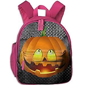 Pumpkin Face Halloween Hot Sale Child Shoulder School Bag School Backpack Satchel For Teens Boys Girls Students Pink