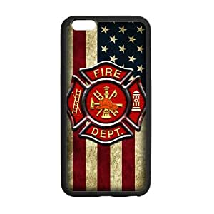 Generic Custom Unique Otterbox You Deserve--American Flag Firefighter Emblem in Flames Fire Rescue Symbol Plastic and TPU Case Cover iPhone6 Plus 5.5