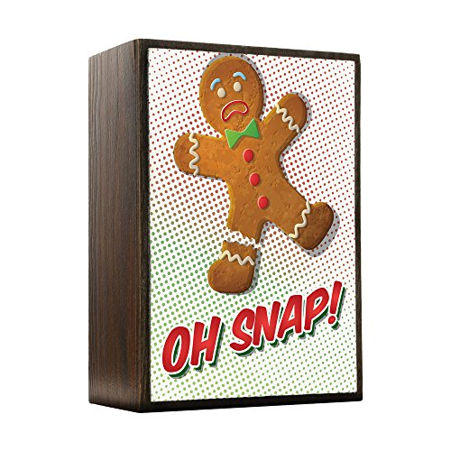 Inspired Home Oh Snap! - Gingerbread Man Box Sign Size ()