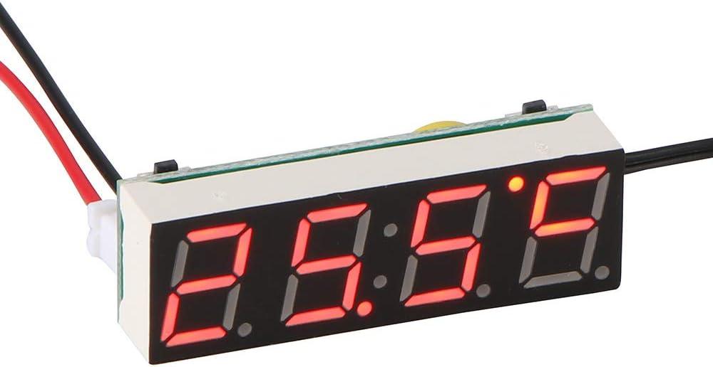 Auto Elektrische Uhr Abedoe 3 In 1 Uhr Thermometer Voltmeter Digital Timer Uhr Led Anzeige Auto Timer Mini Tragbare Auto Uhr Rot Auto
