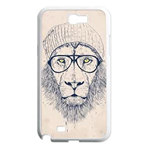 Personalized New Print Case for Samsung Galaxy Note 2 N7100, Hipster Lion Phone Case - HL-R688752
