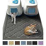 """JUMBO Litter Mat 47"""" x 36"""" Cat Litter Mat, Traps Messes, Easy Clean, Durable, Non Toxic Trapper Rug - Litter Box Mat, Cat Mat, Kitty Litter Mat"""