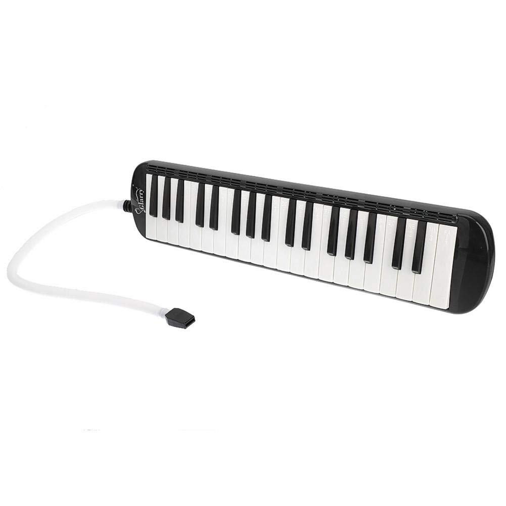 reakfaston 37-Key Melodica Instrument Keyboard Mouth Piano with Mouthpiece & Hose & Bag
