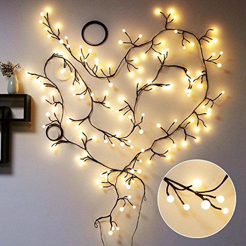 Transformers Costume Vine (8.2Ft Vine-shaped LED String Lights 72 Bulbs Starry Fairy Lights Perfect for Room,Dorm,Christmas,Window Curtain,Bookshelf, Backyard,Wedding,Birthday Party)
