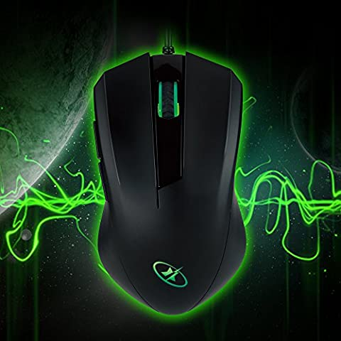 ROSEWILL USB Gaming Mouse, Gaming Mice for Computer / PC / Laptop / Mac Book with Advanced Optical Gaming Sensor and User-Friendly Design with side buttons (Gaming Mouse And Laptop)
