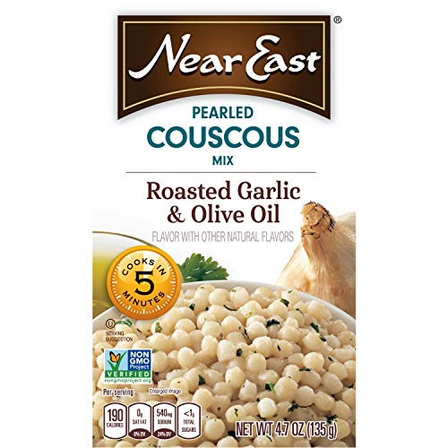 - Near East Pearled Couscous, Roasted Garlic & Olive Oil,4.7 Ounce (Pack of 6 Boxes)