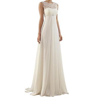 ZYLLGF Lace Chiffon Wedding Dresses Bridal Gowns Corset Back Wedding ...